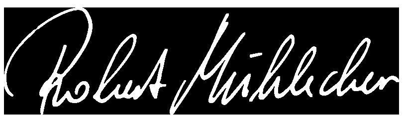 Unterschrift von Robert Mühlecker